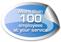 More than 100 employees at your service