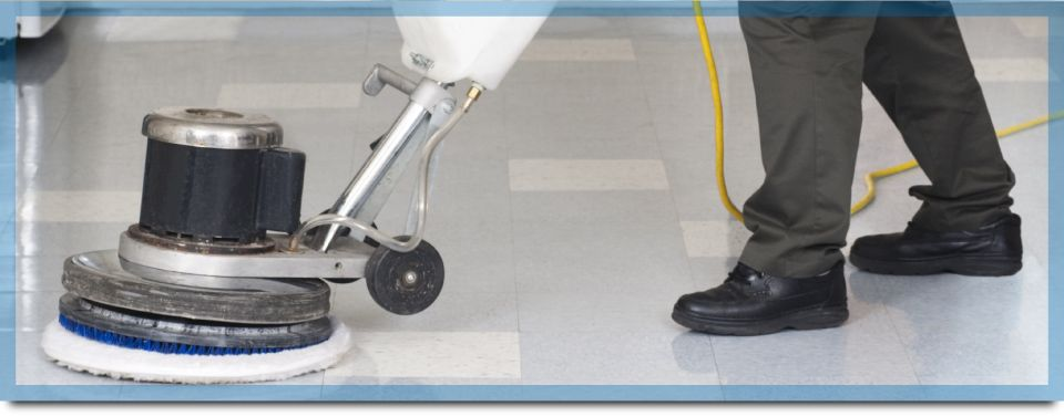 Toronto office cleaning since 1963 | Floor-polishing machine